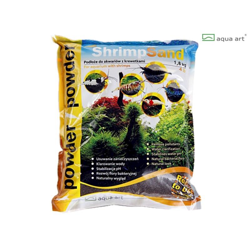 Aqua Art substrát - Shrimp Sand Powder (hnědý) - 1,8 kg