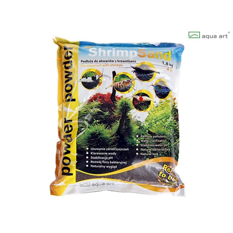 Aqua Art substrát - Shrimp Sand Powder (černý) - 1,8 kg
