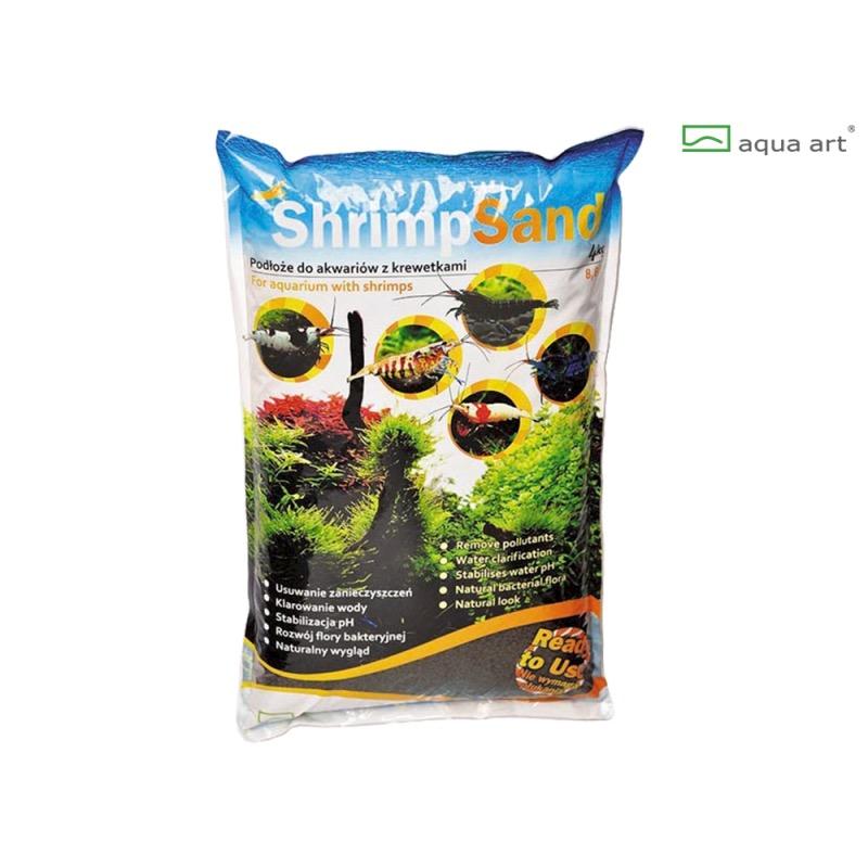 Aqua Art substrát - Shrimp Sand (černý) - 4 kg
