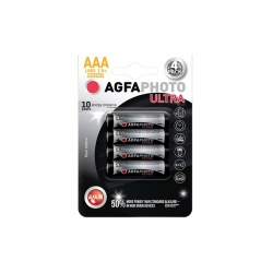 Baterie alkalická ultra LR03/AAA, 4ks - AgfaPhoto