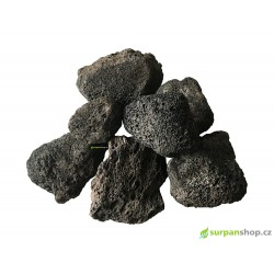 Black Lava Stone 4-8cm - 1kg