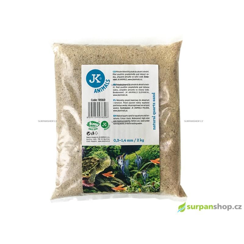 Křemičitý písek přírodní 0,3–1,4mm, 2kg