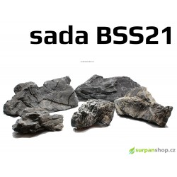 Black Seiryu Stone - sada BSS21